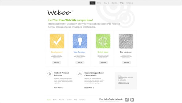 Website Design with Hand Drawn Elements
