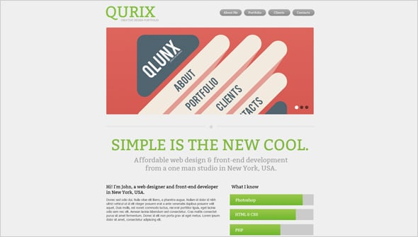 Minimal Website Design for Web Developers