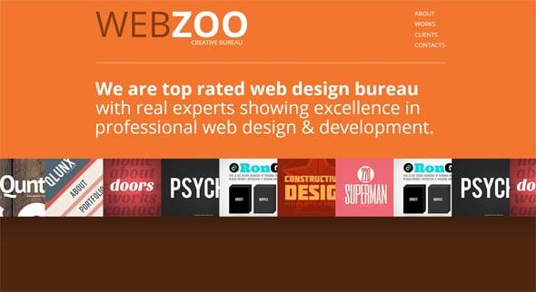 Orange Web Design for Creative Studios