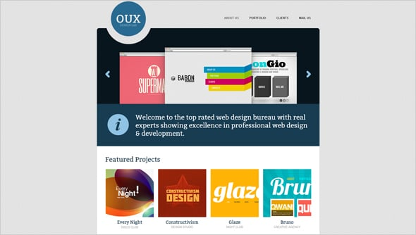 Web Designer's Portfolio Website Template