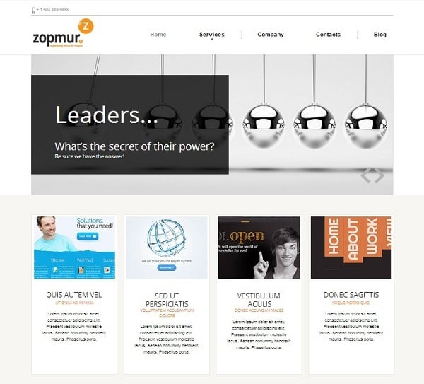 Content Oriented SEO Company Website Templates