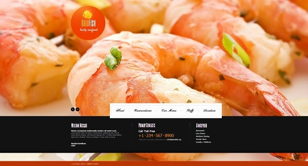 Cooking Website Template with Large Photos