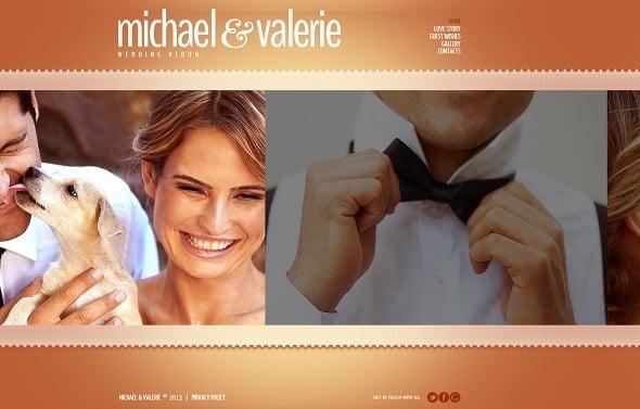 Engagement Website Template in Orange