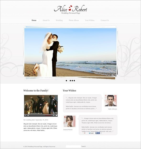 Engagement Website Template with Video