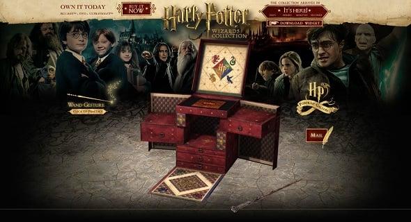 Harry Potter movie website