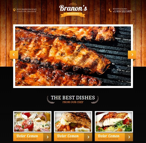 Restaurant Website Template with Visuals