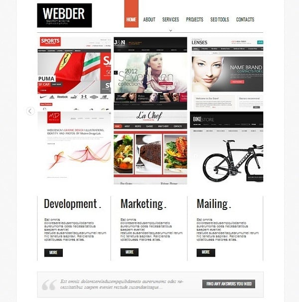 SEO Company Website Templates with Image Slider