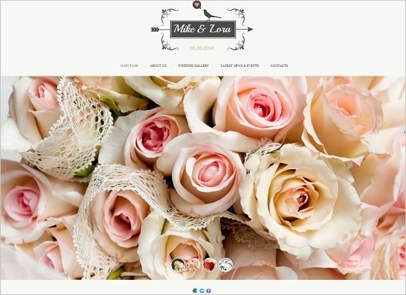 Website Template for Engaging Couple