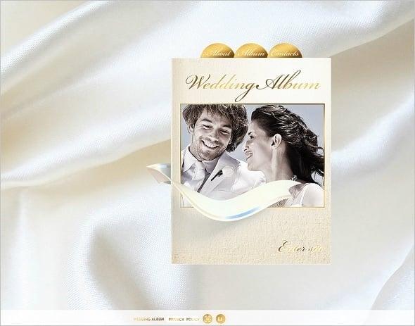 Wedding Album Website Template in Golden Tones