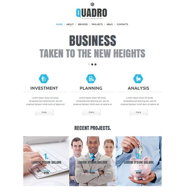 White Accounting Website Templates