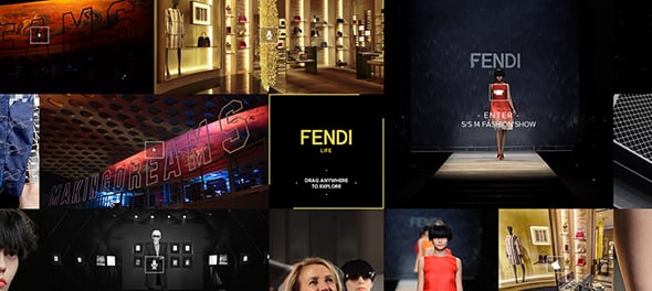 Fendi Official Site with Infinite Scroll