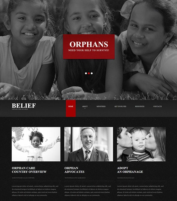 Focal Point in Web Design Example