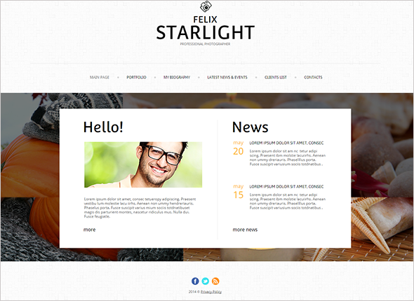 Website Template with Transparency