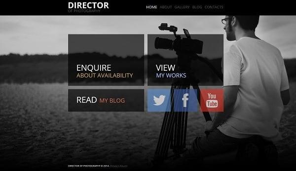 Metro Design Minimalist Website Template
