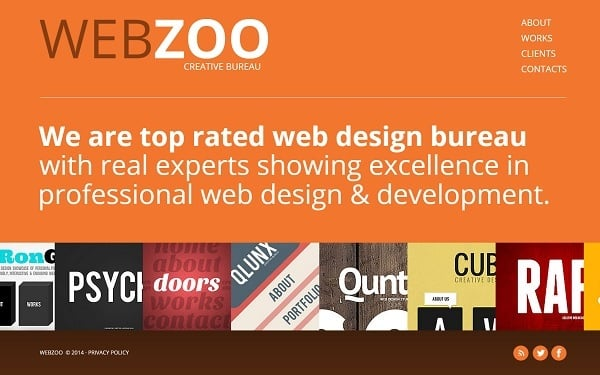 Metro Design Website Template with Typography