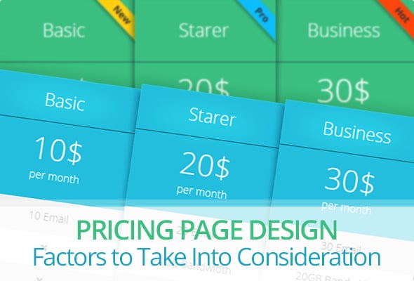 Pricing Page Design – Factors to Take Into Consideration