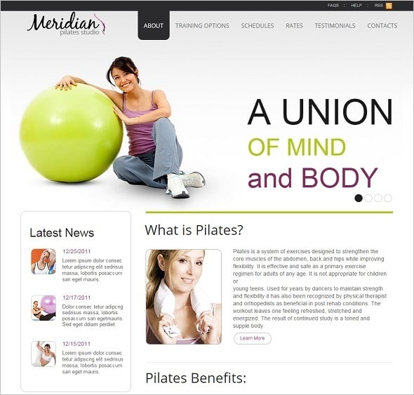Create a Fitness Website - Fitness Club Web Template in Clean Style