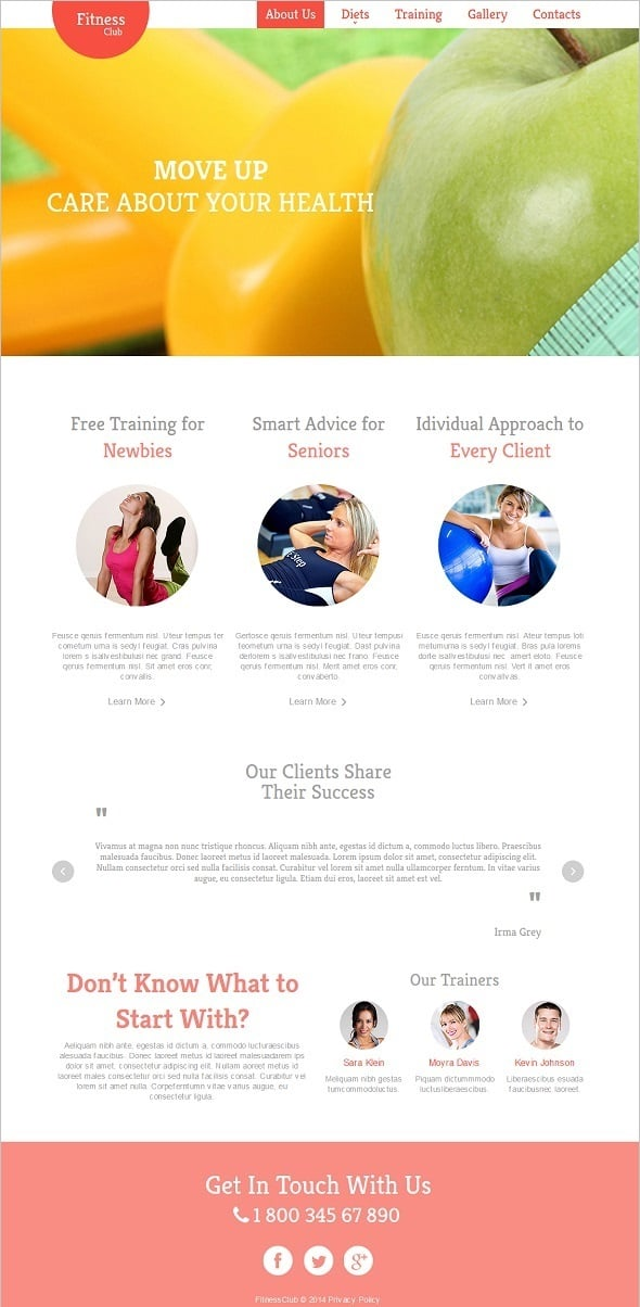 Create a Fitness Website - Fitness Website Template With Large Slider