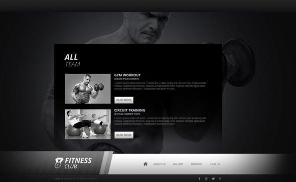 Create a Fitness Website - Monochrome  Fitness Website Template