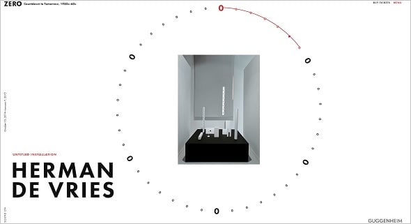 Website Navigation - Exhibitions Guggenheim