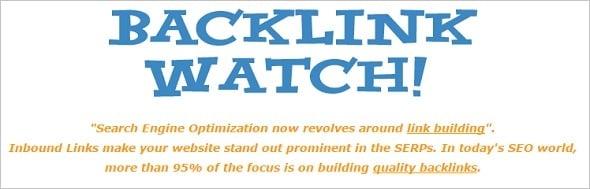 Free SEO Tools - Backlinks Watch
