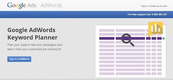 Free SEO Tools - Google Keyword Planner