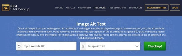 Free SEO Tools - Image Alt Test