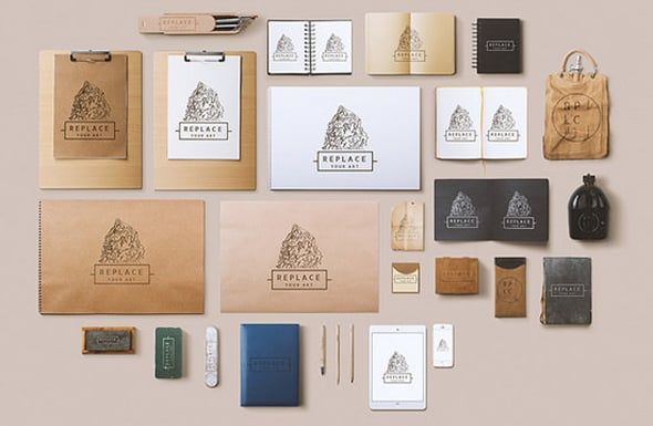 Noupe - 25 Free Hero Images and Mock-ups: The First Impression Counts