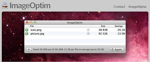 Increase Website Speed - ImageOptim