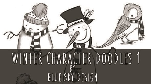 Winter Character Brushes Doodles
