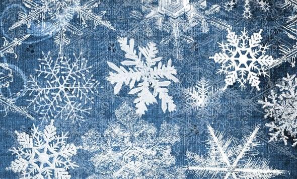 Web Design Freebies - Snowflakes Brush