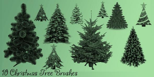 Christmas Tree Brush Set