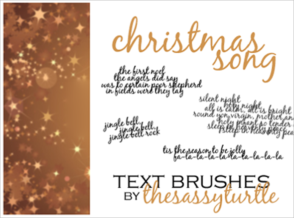 Christmas Text Brushes