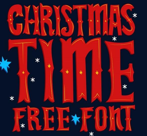 Web Design Freebies - Christmas Time Free Font