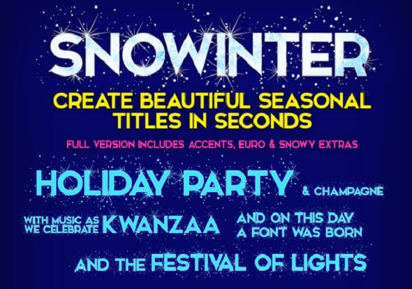Web design Freebies - Snowinter Font