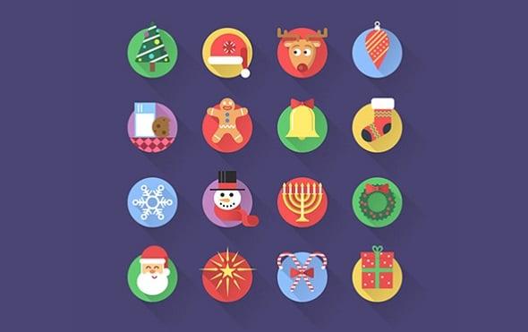 Web Design Freebies - 16 PSD Christmas Icons