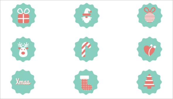 Free Pastel Christmas Icons