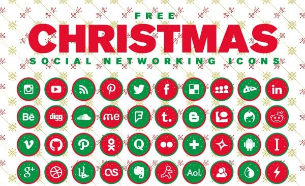 Christmas Social Networking Icons