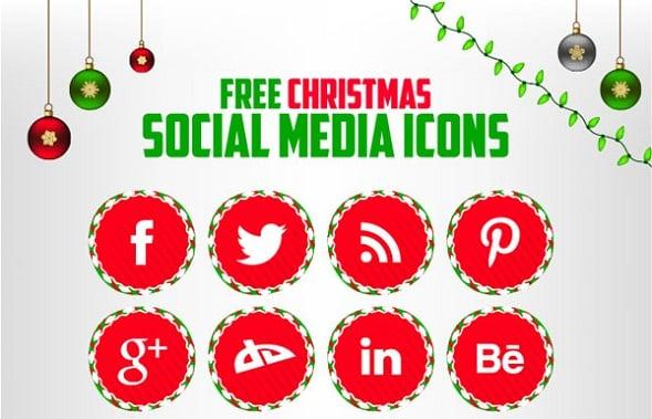 Christmas Icons for Social Media
