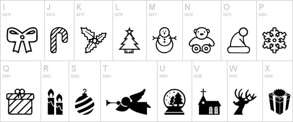 Monochrome Christmas Icons