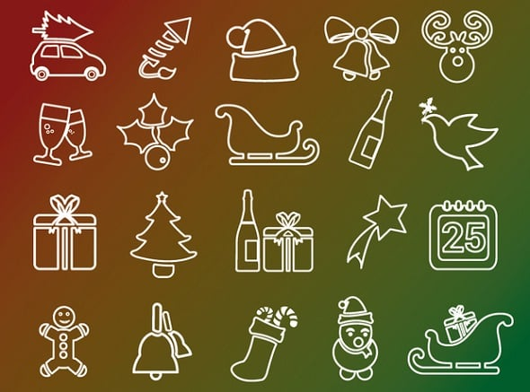 20 Christmas Holidays Live Icons