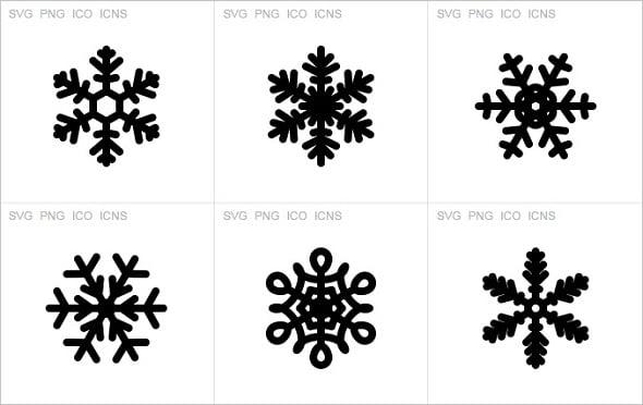 Web Design Freebies - 6 SVG Snowflake Icons