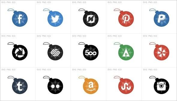 Xmas Social Icons