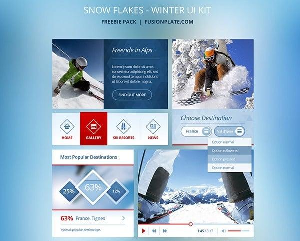 Snowflakes Free UI Kit