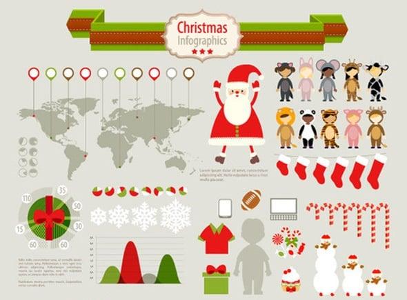Funky Christmas Infographic Set