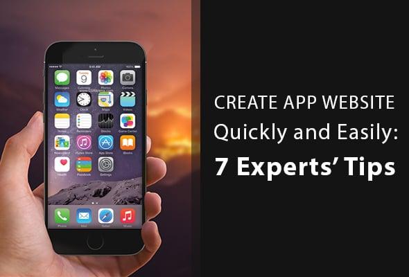 Create App Website Main