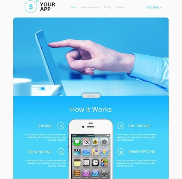 create app website template 2
