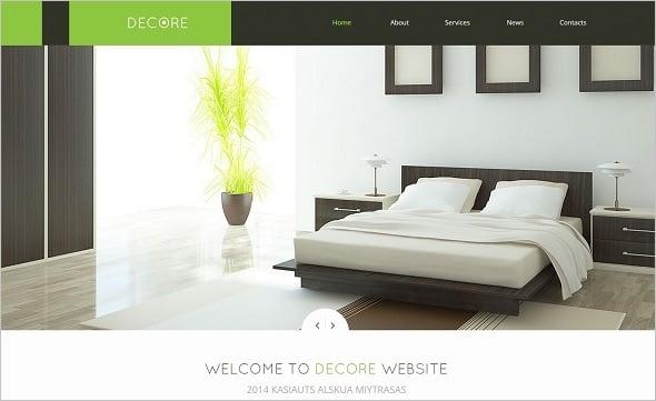 Best Website Templates 2014 - Home Decor Studio Web Template