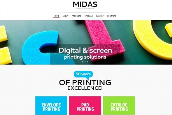 Best Website Templates - Creative Template for Digital Printing Company