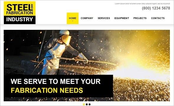 Best Website templates 2014 - Website Template for Steel Industry